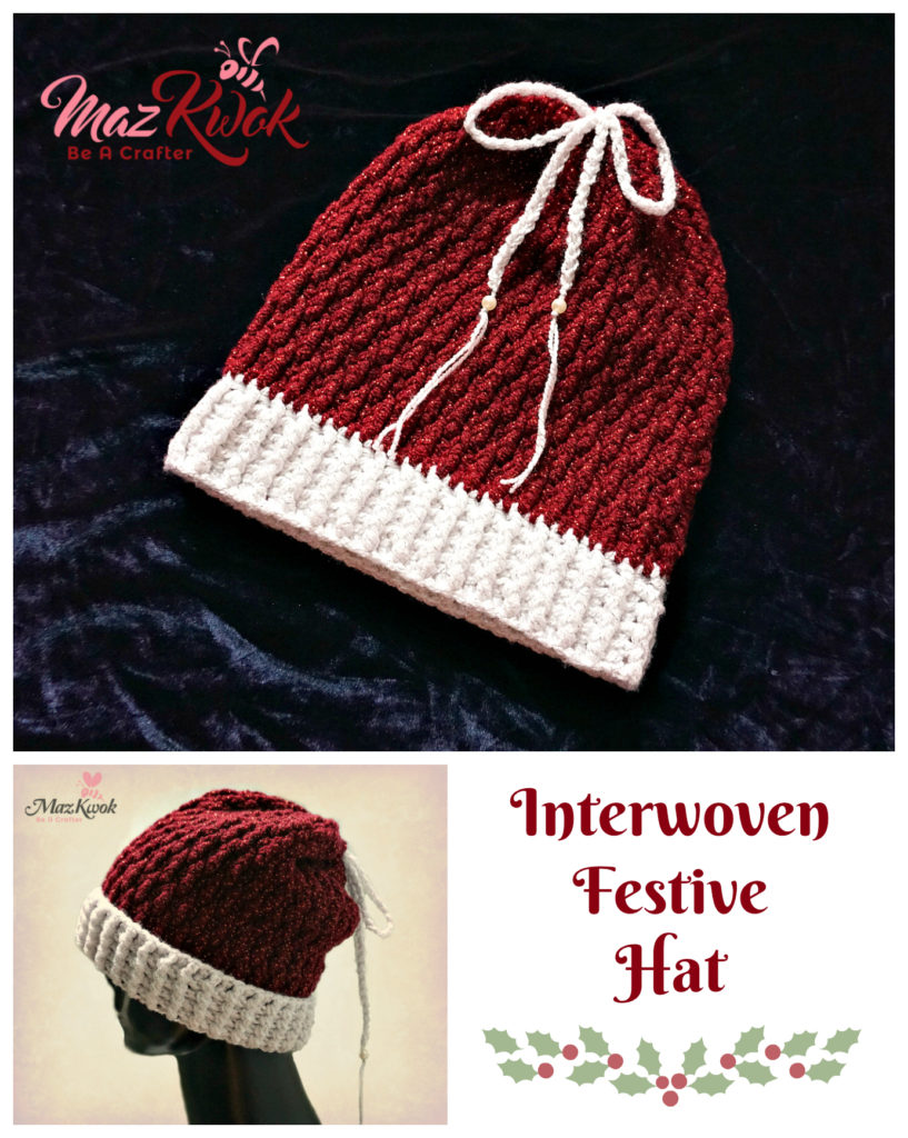 Crochet Interwoven Festive hat
