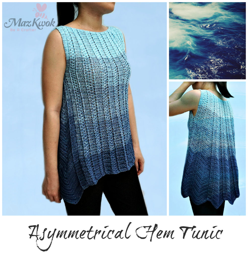 Crochet asymmetrical hem tunic