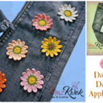Crochet dainty daisy appliques