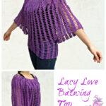 Crochet Lacy Love batwing top
